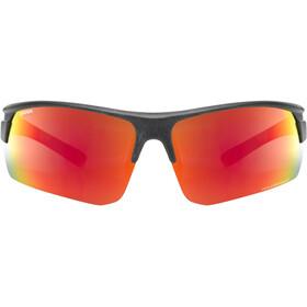 UVEX Sportstyle Ocean Polavision Glasses black matt/mirror red